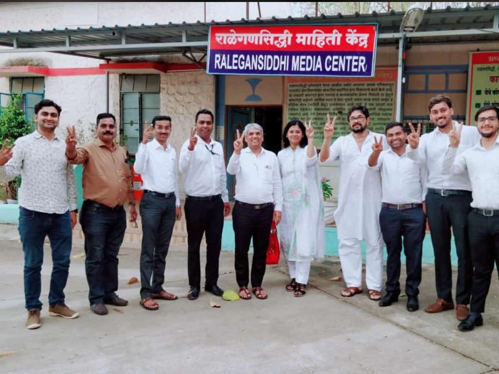 Team IBA Visits Ralegan Siddhi