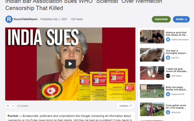 """Indian Bar Association Sues WHO """"Scientist"""" Over Ivermectin Censorshi_ - rumble.com"""