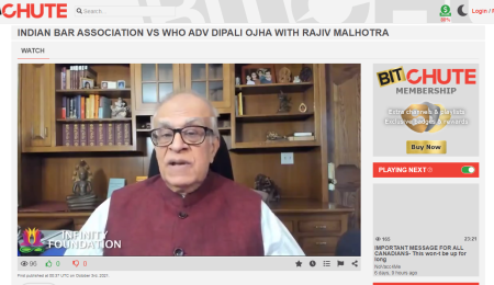 Indian Bar Association vs WHO Adv Dipali Ojha with Rajiv Malhotra